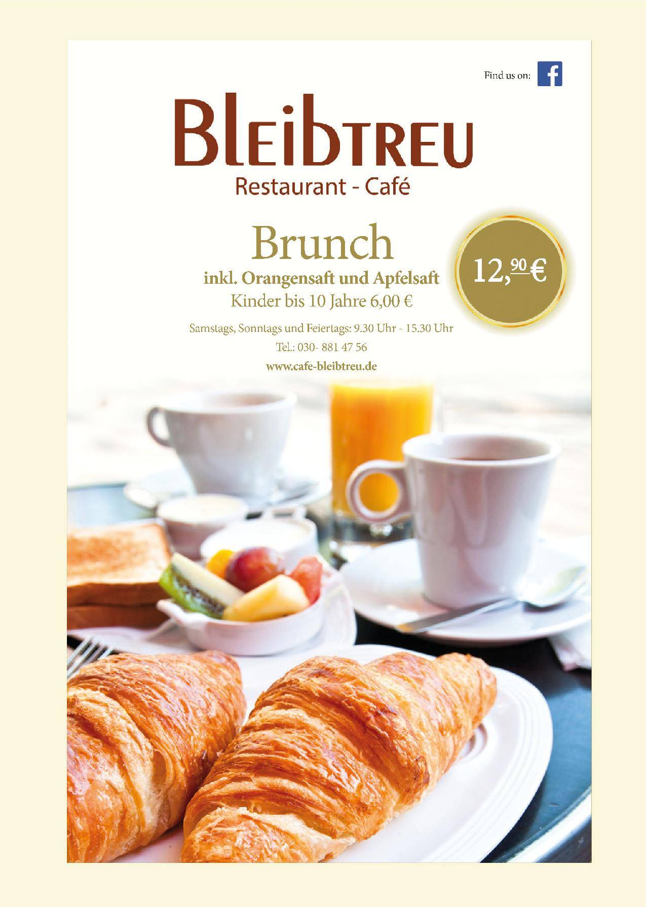 Offer Brunch in Bleibtreu