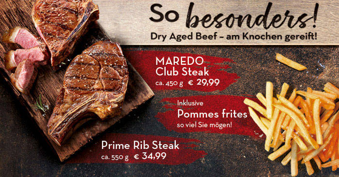 Offer Dry Aged Beef - schon ab 29,99 € inkl. Pommes frites satt